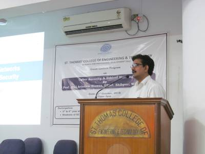 Guest Lecture on Cyber Security & Ethical Hacking (31/10/2018) 1