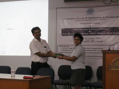 Guest Lecture on Cyber Security & Ethical Hacking (31/10/2018) 13