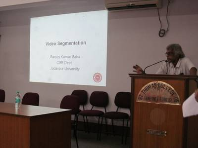 "Lecture on ""Video Segmentation"" by Dr. Sanjoy Kumar Saha - STCET Student Chapter of IE(I) (05/04/2019) 1"